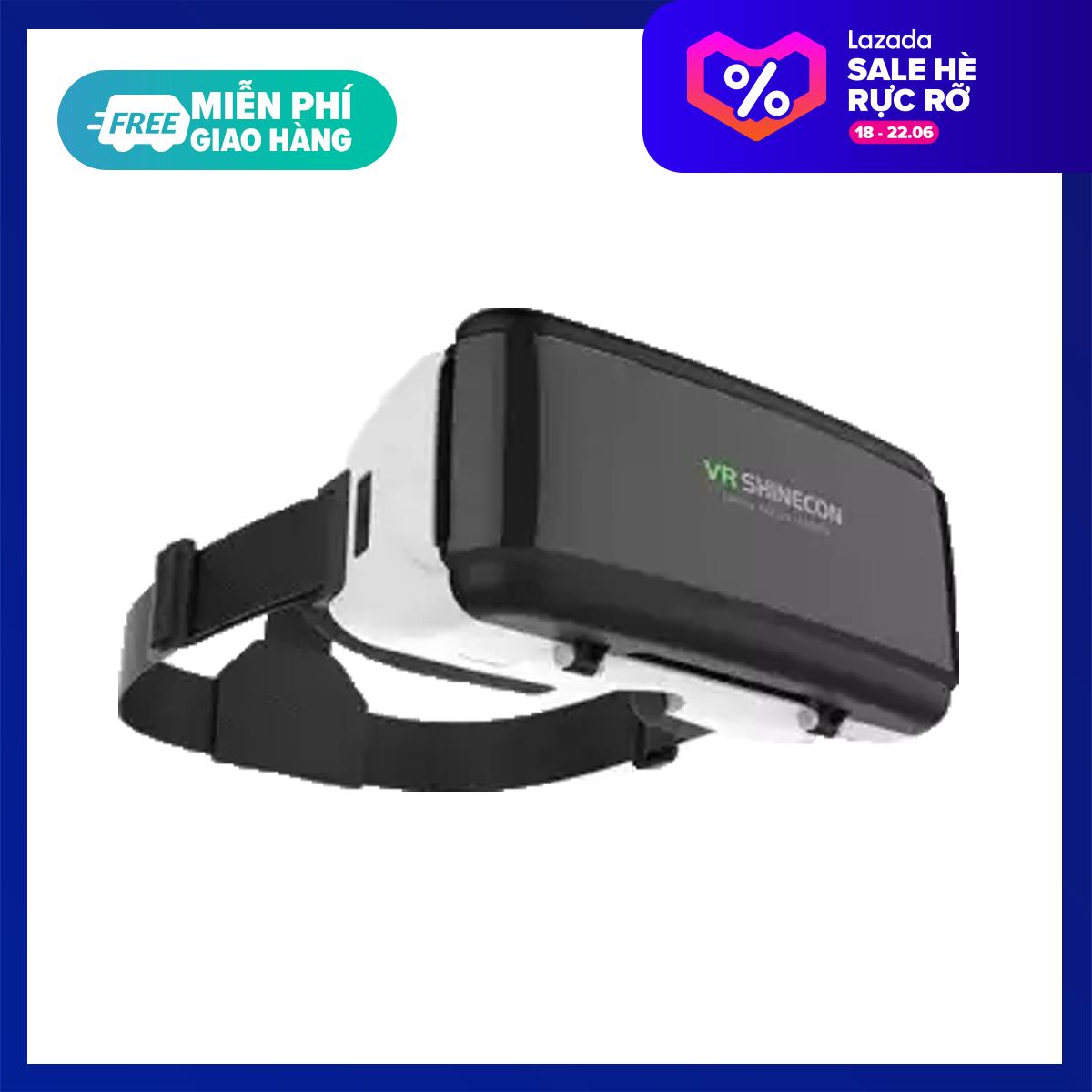 [HCM]Kính 3D Vr Shinecon G06/ G06E/ G07E tương thích với các dòng smartphone từ 4.7 tới 6 inch hỗ trợ thấu kính Aspherical 40mm