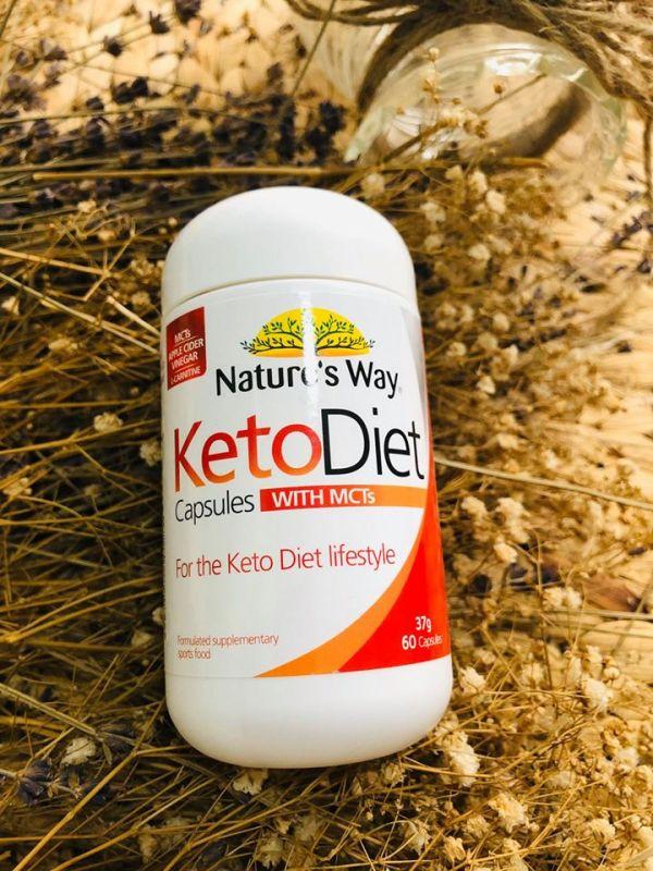 (Hàng Auth, Có Bill) Nature's Way Viên uống giảm cân KetoDiet 60 viên