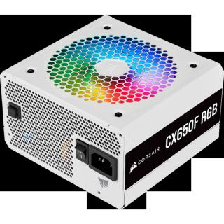 Nguồn Corsair CX650F RGB White 80 Plus Bronze Full Modul - Hàng Chính Hãng thumbnail