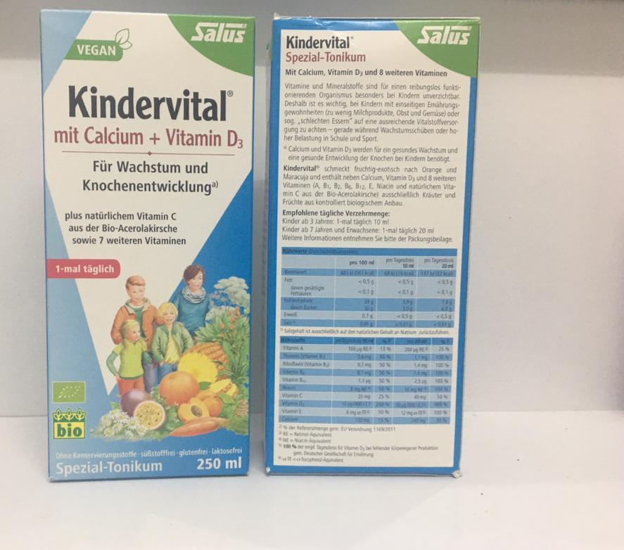 Vitamin tổng hợp kindervita mit calcium + vitamin D3