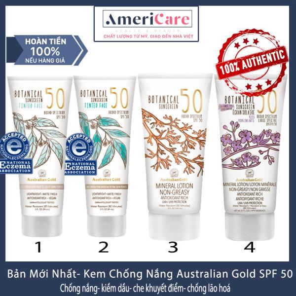 [Bill Mỹ- Bản 2020] Kem chống nắng AUSTRALIAN GOLD Botanical SPF 50 Tinted Face Lotion