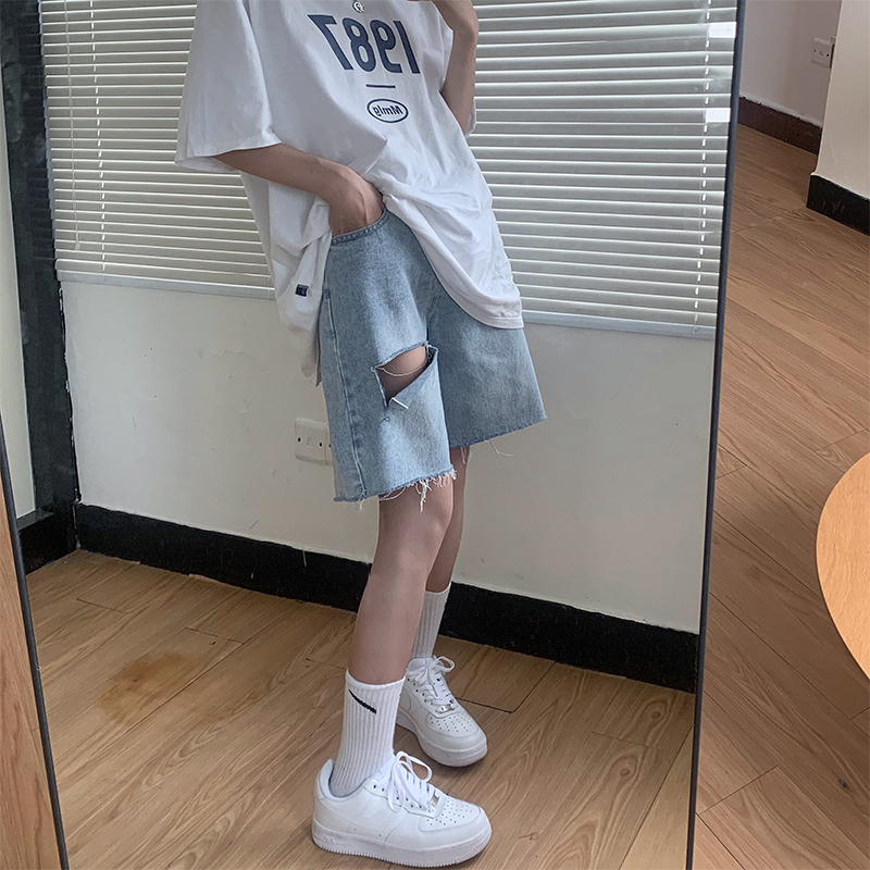 Nơi bán Quần short jean unisex Yinxx, quần bò ulzzang nam nữ QSJ01
