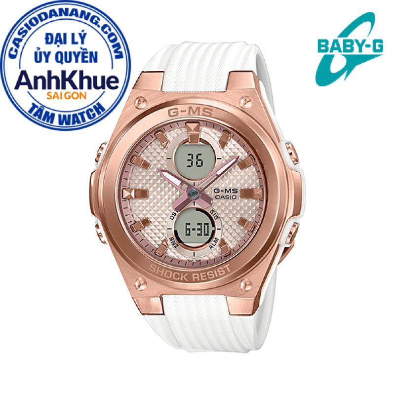 Đồng hồ nữ dây nhựa Casio Baby-G chính hãng Anh Khuê MSG-C100G-7ADR (40mm)