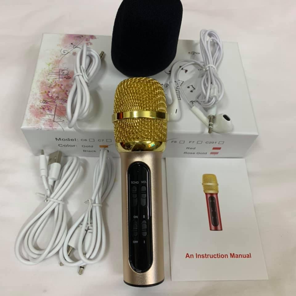 Bộ Micro C11 Live Stream, Hát Karaoke Chuyên Nghiệp Mới, Đầy Đủ Phụ Kiện Tai Nghe, Cáp Sạc, Dây Live, Dây Lấy Nhạc ...