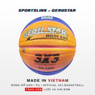 [HCM]Bóng rổ dán Gerustar 3X3 PU GS-3300 (Banh size 6 - cân nặng size 7 - chuẩn quốc tế) thumbnail