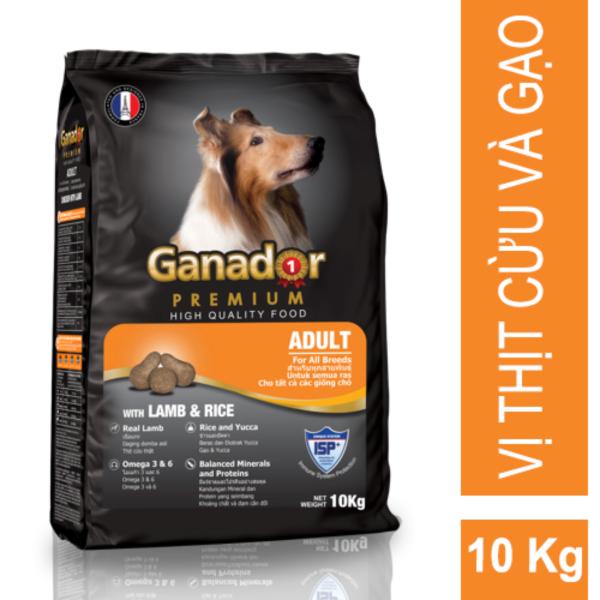 Thức ăn cho chó trưởng thành Ganador Lamb & Rice 10kg