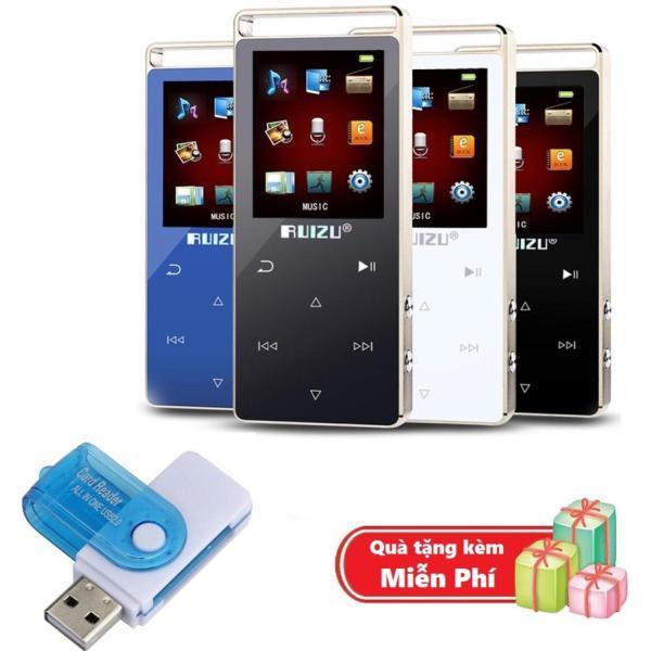( Quà tặng Đầu đọc thẻ nhớ đa năng ) Máy nghe nhạc MP3 RUIZU D01 Bộ nhớ trong 8GB hỗ trợ thẻ nhớ tối đa 128GB