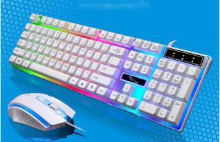 Combo Bàn phím giả cơ dành cho game thủ NTC G21 led đa màu và chuột R8 - BỘ BÀN PHÍM CHUYÊN GAME G21 VÀ CHUỘT R8 1602 LED 7 MÀU - Bộ bàn phím chuột dây G21 Bộ bàn phím chuột giả cơ Led 7 G21. Bảo hành uy tín 1 đổi 1 thumbnail