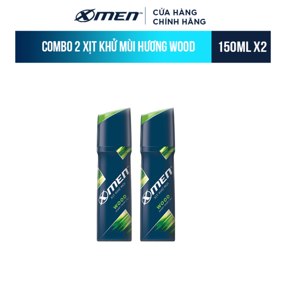 Combo 2 Xịt khử mùi X-Men Wood 150ml