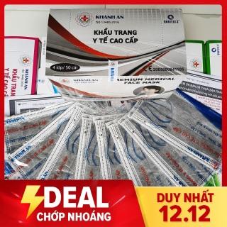 [ CHÍNH HÃNG ] Khẩu trang y tế 4 lớp kháng khuẩn KHÁNH AN hộp 50 cái 50 túi riêng tiệt trùng tuyệt đối thumbnail