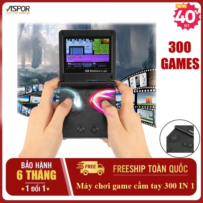 Máy chơi gamer cầm tay 300 trò chơi  cổ điển 9x hiện đại-Máy chơi game cầm tay mini retro gameboy 4 nút - máy gamer điện tử cầm tay sup PSP-Máy game gấp gọn - Đánh giá 5 sao (Màu đen))