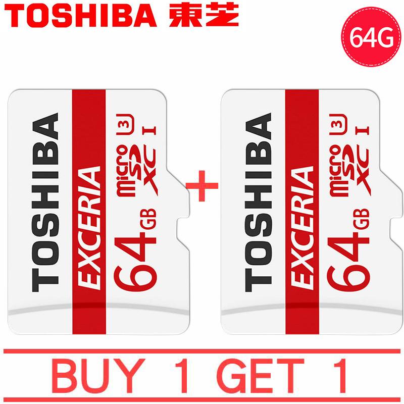 mua 1 tặng 1 Thẻ nhớ micro SD toshiba 64GB M203 SDHC 100Mb/s