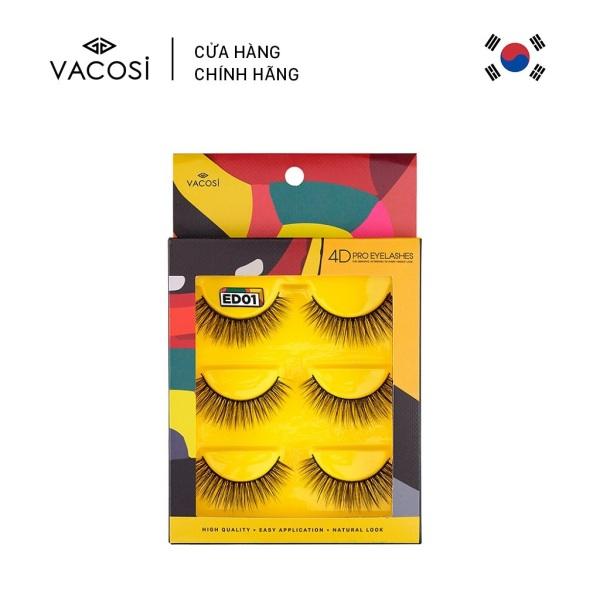 Vacosi Hộp 3 Cặp Lông Mi Giả 4D Pro Eyelash giá rẻ