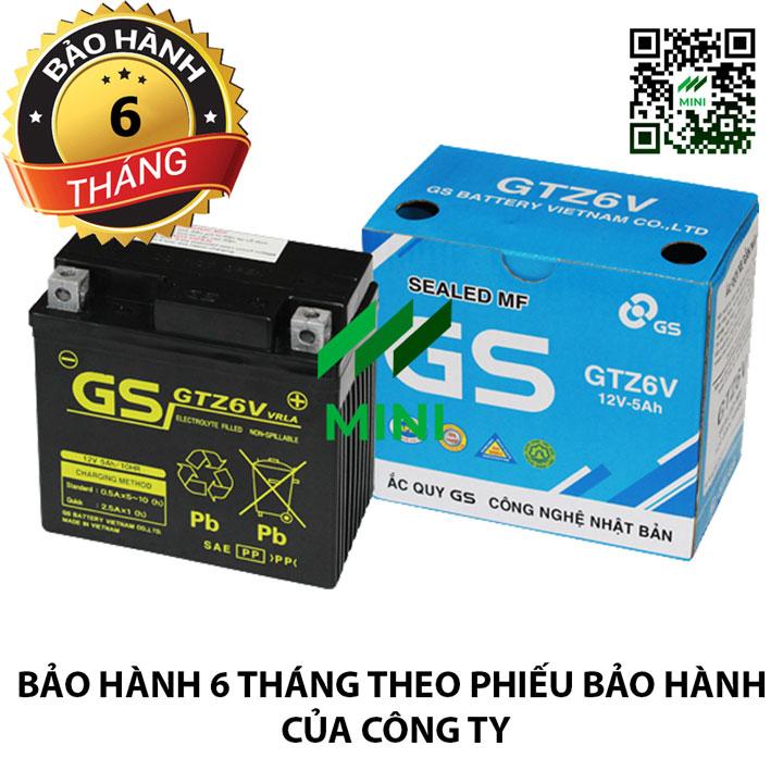 Bình ắc quy khô GS MF GTZ6V (12V-5Ah)