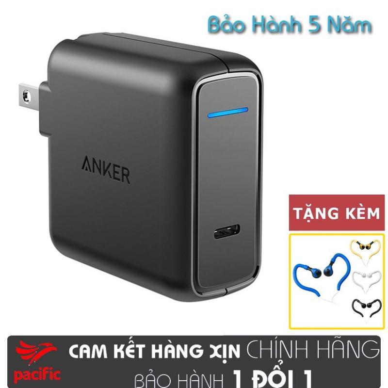 Sạc ANKER PowerPort Speed 1 Cổng USB-C 30W Power Delivery - A2014 2019 + Tặng Tai Nghe Móc Tai Kingrays EA4015