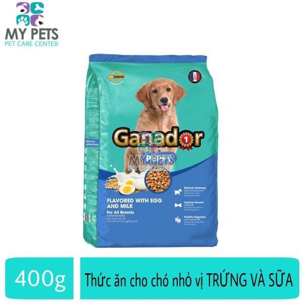 Thức ăn cho chó nhỏ hương vị trứng và sữa Ganador puppy Flavored With Egg And Milk - Gói 400g