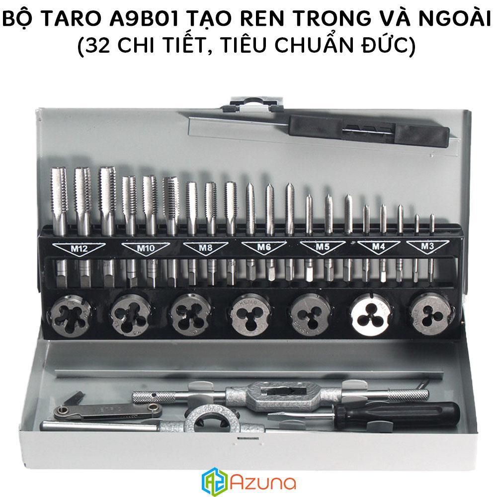 Bộ taro A9B01 tạo ren trong và ngoài 32 chi tiết (Sản xuất theo đơn đặt hàng của Đức)