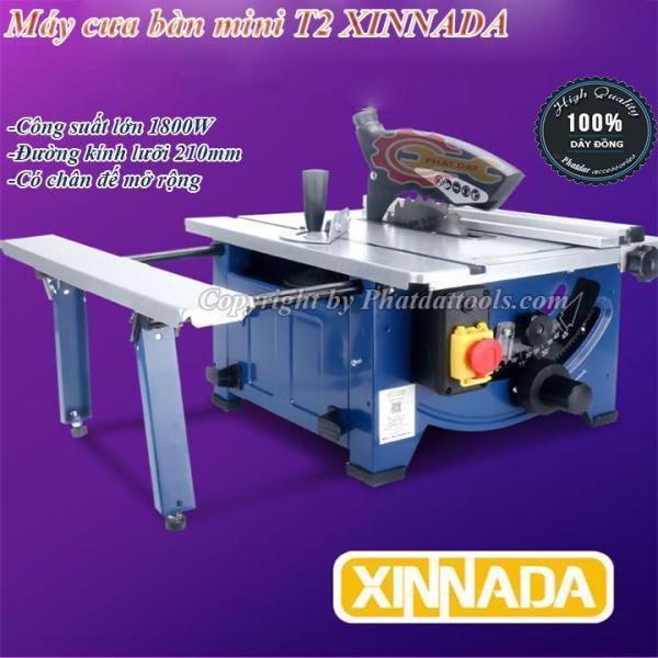 Bàn cưa gỗ mini XINNADA T2-Có bàn cưa mở rộng-Công suất 1800W-Điều chỉnh cắt sâu,cắt nghiêng-Bảo hành 6 tháng