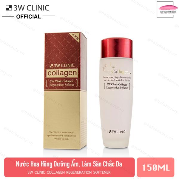 Nước Hoa Hồng Tái Tạo Da Chống Lão Hóa 3W Clinic Collagen Regeneration Softener 150ml giá rẻ