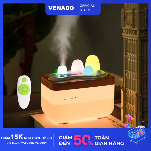 Máy phun sương tạo ẩm hình Cánh Đồng Hoa có Remote dung tích lớn 420ml - Venado