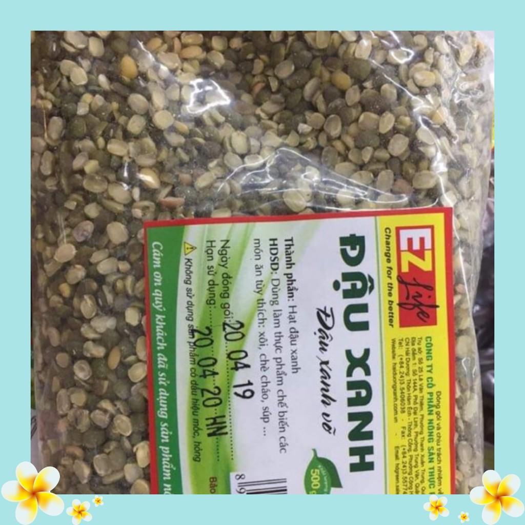 1kg đậu xanh quê nguyên vỏ bể đôi chất lượng - L1 - 500g