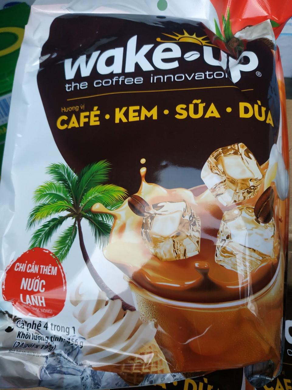Cà Phê Kem Sữa Dừa Wake Up 456g Cùng Giá Khuyến Mãi Hot