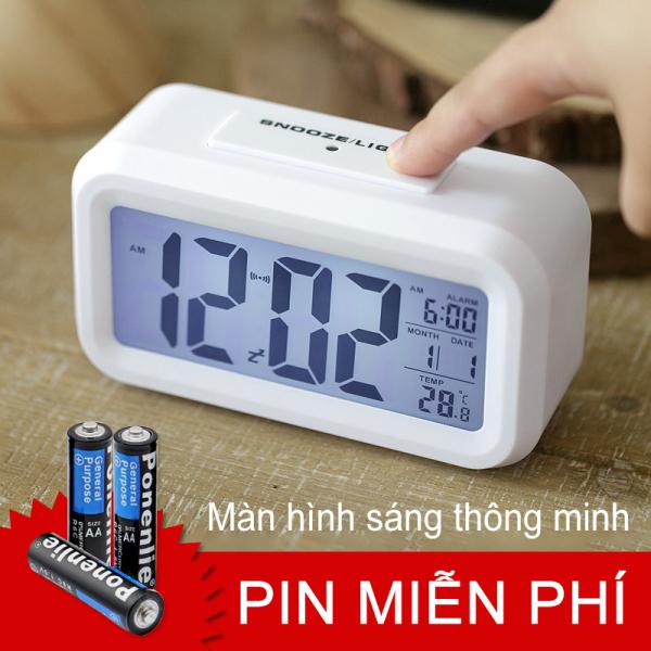 Nơi bán 【like】Đồng hồ báo thức, phần nhiệt độ, đồng hồ báo thức lười biếng, tắt tiếng, đồng hồ điện tử, đồng hồ kỹ thuật số sáng tạ(Miễn phí ba pin AAA)