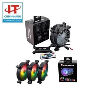 Bộ 3 FAN CHANPION SLIM RGB ( Bộ 3 Fan RGB Có Hub + Controler ) thumbnail