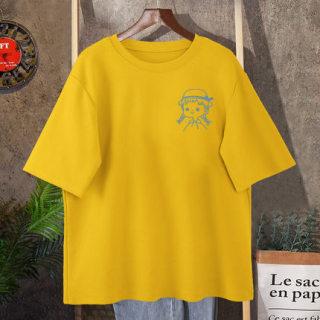 áo thun phông rộng tay lỡ UNISEX nữ vẽ hình siêu cute size từ 35-75kg thumbnail