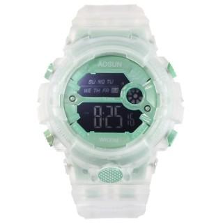 Đồng hồ điện tử thể thao thời trang nữ dây Silicon trong suốt cao cấp AOSUN PKHRAS002 (46 mm) thumbnail