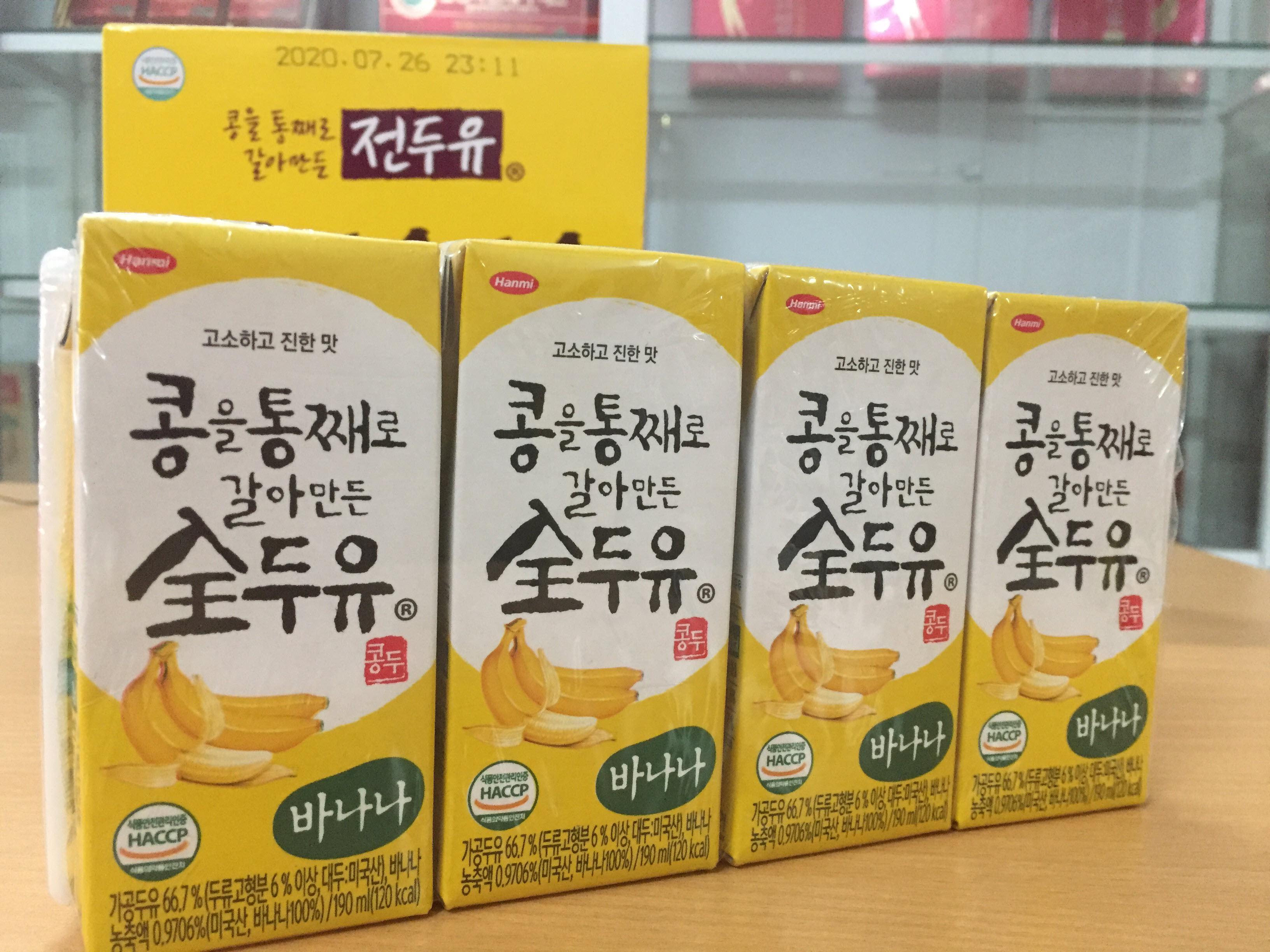 [Hanmi] - Sữa Hạt Hàn Quốc vị chuối 190 ml (4 hộp) - Sữa hạt Hàn Quốc Hanmi