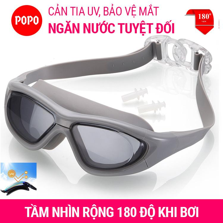 Kính Bơi Tầm Nhìn Rộng 180 độ, Tráng Gương, Chống Tia UV POPO Collection Đang Giảm Giá