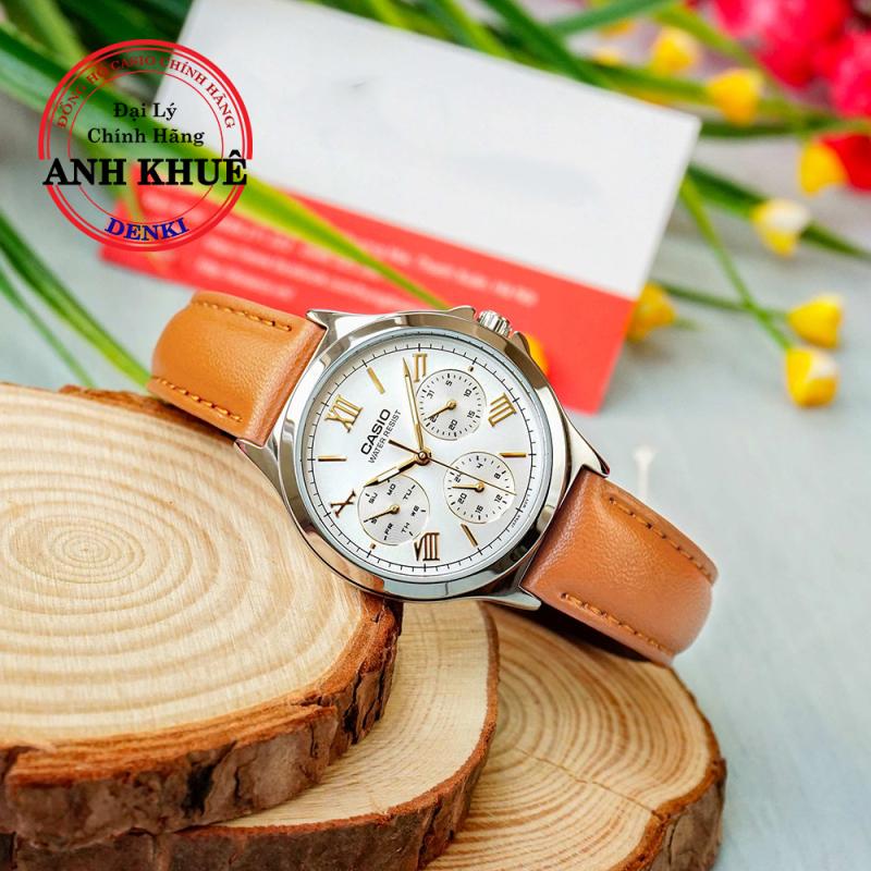 Đồng hồ Nữ dây da Casio Standard Anh Khuê LTP-V300L-7A2UDF dây da cao cấp
