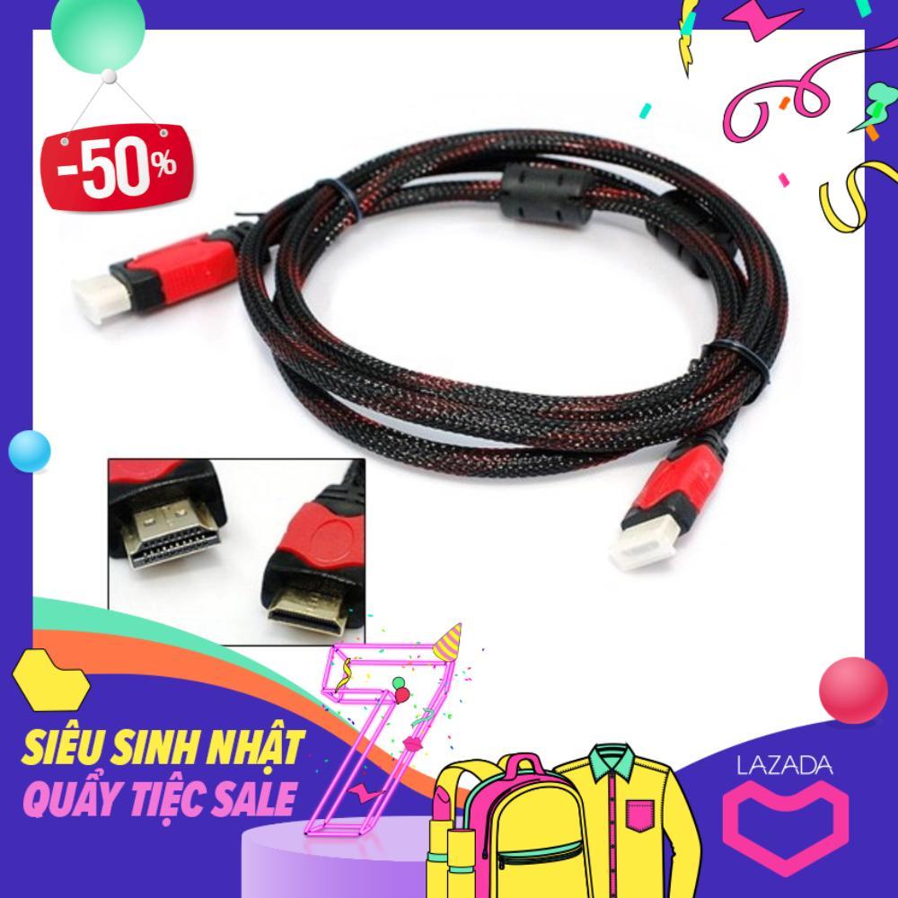 Cáp nối HDMI 1.5m đen đỏ