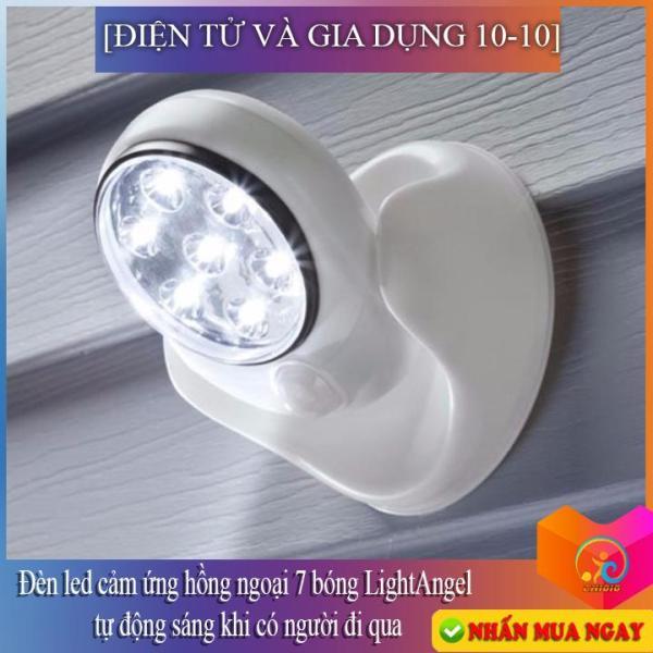 [Loại tốt]Đèn led cảm ứng hồng ngoại 7 bóng LightAngel tự động sáng khi có người đi qua,chống trộm--ĐIỆN TỬ CN10