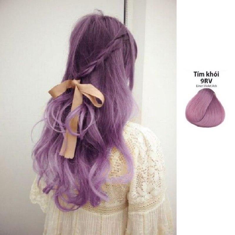 [Combo 3 món]Thuốc nhuộm tóc Kami màu tím khói (9RV) + TẶNG kèm trợ nhuộm 100ml + Bột tẩy 100ml cao cấp