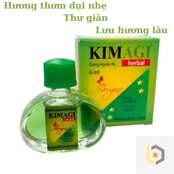 [HCM]Dầu gió Kim AGI 6ml. Hương thơm dịu nhẹ 1 hộp 1 chai 6ml cao cấp