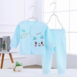 Bộ dài tay thu đông cotton cho bé sơ sinh 3-9kg hàng đẹp xuất Nhật thumbnail