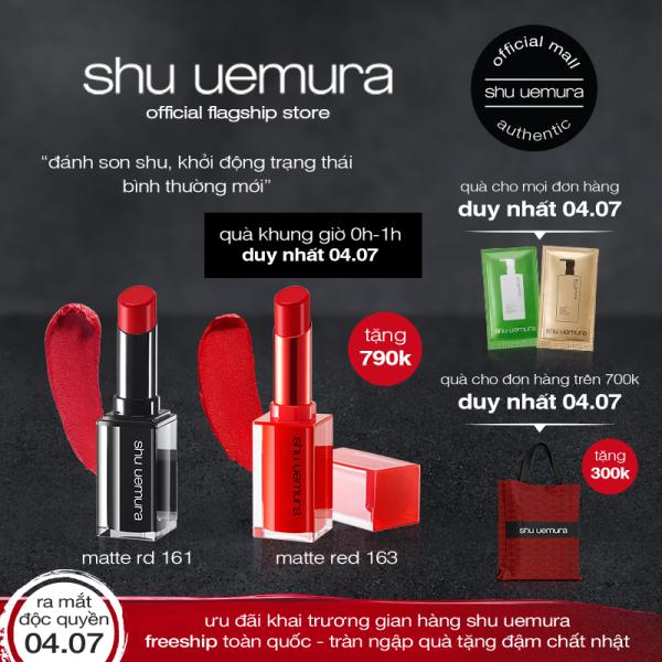son lì lâu trôi shu uemura rouge unlimited matte lipstick 3g cao cấp