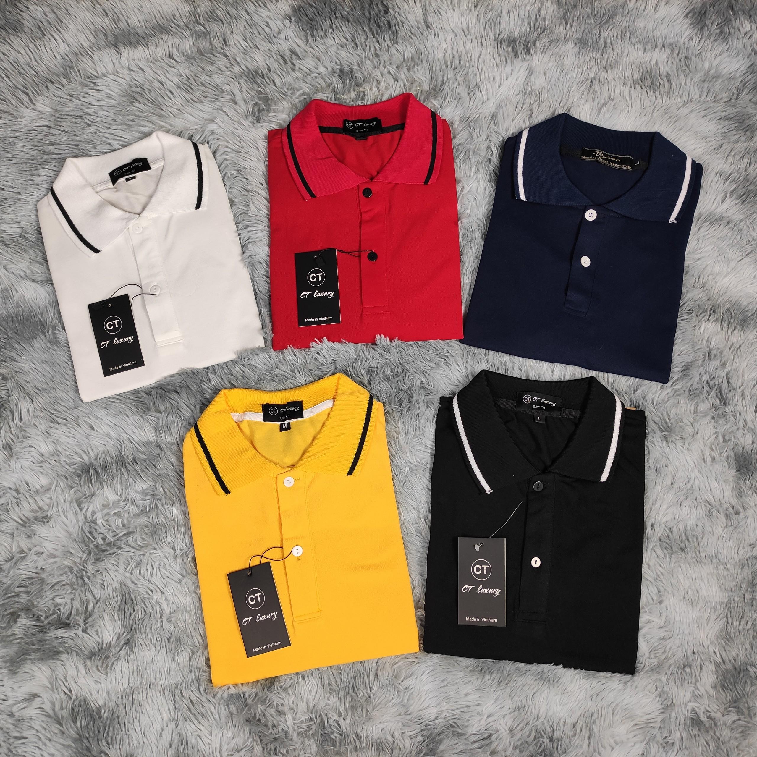 Áo polo nam - áo thun có cổ nam nữ unisex viền tay vải cotton co giãn 4 chiều form chuẩn dáng đẹp