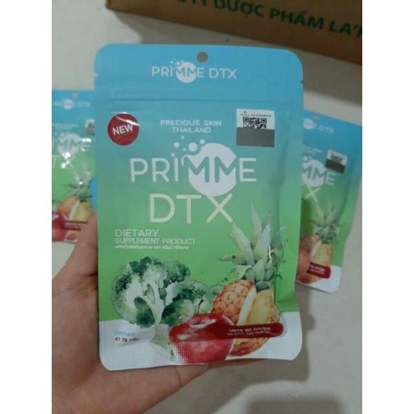 60 Viên khử mỡ Detox Primme DTX Thái Lan 2020 chiết xuất rau củ
