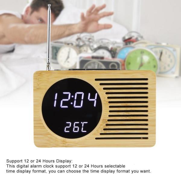 Nơi bán Multipurpose USB Digital LED Alarm Clock Thermometer Time Temperature Display FM Radio