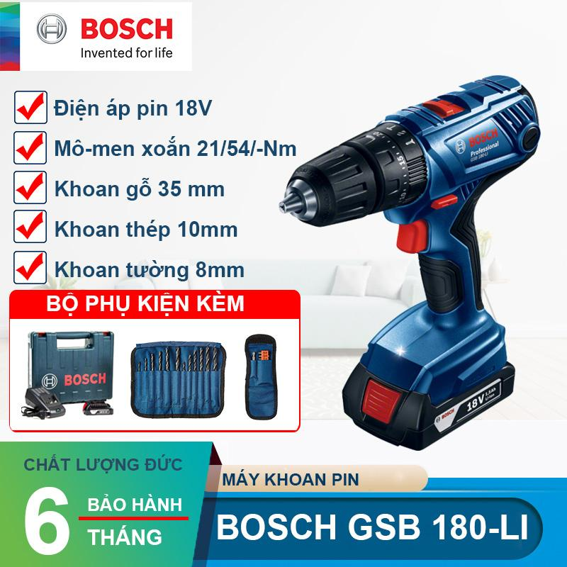 Máy khoan vặn vít dùng pin 18V Bosch GSB 180 LI
