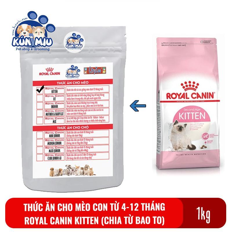 Deal Ưu Đãi Thức ăn Cho Mèo Con Từ 4 đến 12 Tháng Tuổi Royal Canin Kitten 36 Túi Zip 1kg (Chia Từ Bao 10kg)