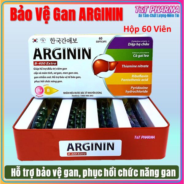 Viên Uống Thải Đọc Gan Arginin B-400 Extra Giúp Thanh Nhiệt Bảo Vệ Gan, Tăng Cường Chức Năng Gan - Hộp  60 Viên