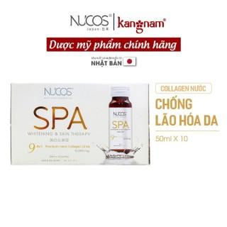 Collagen Nucos spa 10000 50ml x 10 chai, Collagen nước uống đẹp da, giúp giảm nếp nhăn, chảy xệ, các vết thâm nám, tàn nhang, nước chống lão hóa da thumbnail