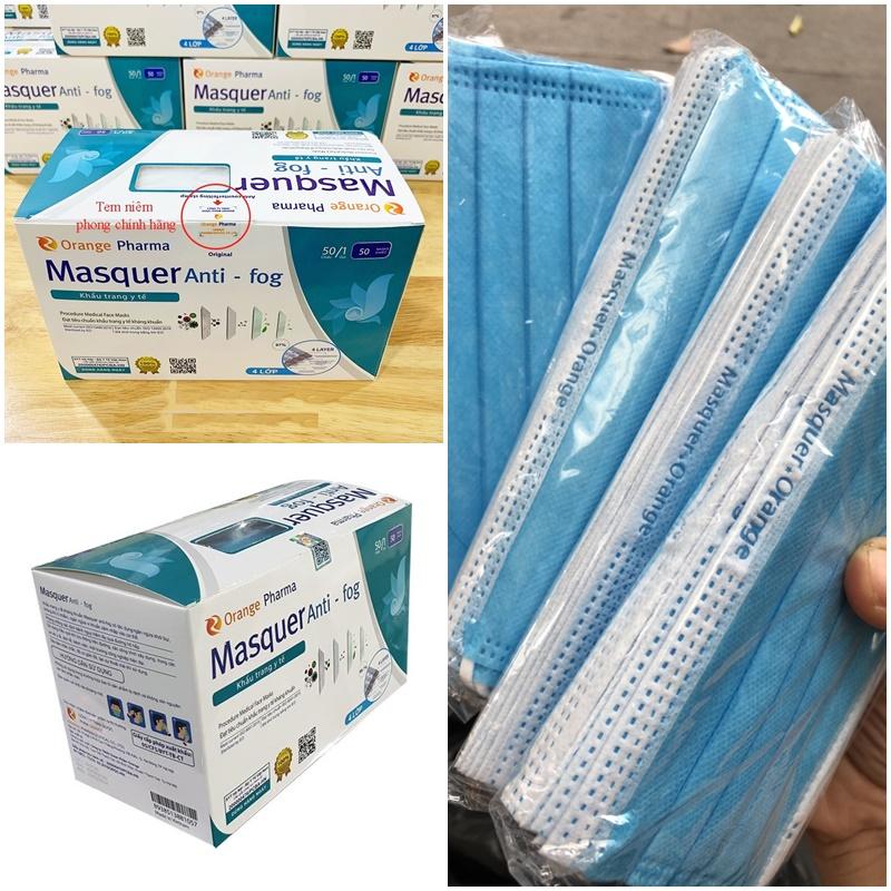 Hộp 50 khẩu trang y tế kháng khuẩn 4 lớp Masquer Anti-fog Hàng Xuất khẩu Châu Âu Chính Hãng 100%