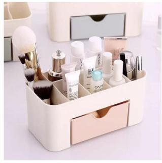 Kệ mỹ phẩm mini có khay và nhiều ngăn thiết kế thông minh kích thước 22x10.7x10.5cm chất liệu nhựa dễ dàng vệ sinh thumbnail