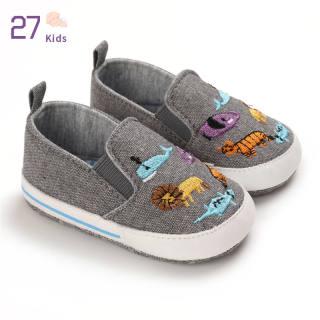 1 Đôi Giày Em Bé 27 Trẻ Em, Giày Trẻ Tập Đi Đế Mềm Thêu Hình Động Vật Bằng Vải Bố Cho Bé 3-12 Tháng Tuổi Nhé