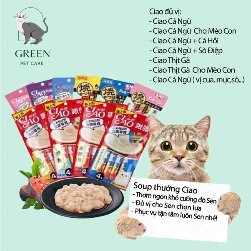 Súp thưởng Ciao Churu cho mèo đủ vị gói 4 thanh